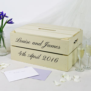 Personalised Wedding Post Box Crate - wedding post boxes