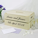 Personalised Wedding Post Box Crate