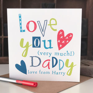 Personalised Father's Day Card For Daddy - valentine's cards
