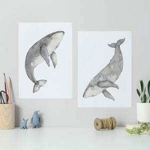 Humpback Whales Set Of Two Prints