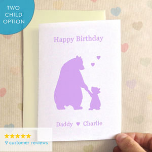 Personalisable Birthday Bears Birthday Card - birthday cards