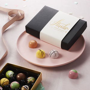 Handpainted Chocolate Collection Box Of 12 - luxury chocolates