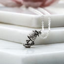 Pineapple And Martini Charm Necklace Sterling Silver
