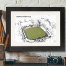 Father's Day Illustrated Cricket Ground Framed Print