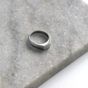 Sterling Silver Small Square Signet Ring