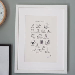 Personalised Memories Illustration Print - posters & prints