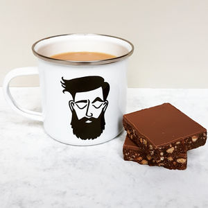 Dapper Dude Enamel Mug