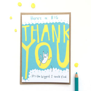 'Big Thank You' Greeting Card