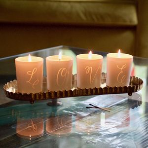 Love Votive Candle Set - housewarming gifts