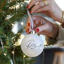 Personalised White Iridescent Pearl Bauble