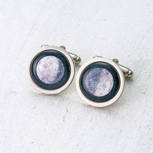 Personalised Moon Phase Cufflinks - valentine's gifts for him