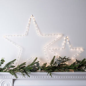Set Of Two Micro LED Star Lights - christmas decorations