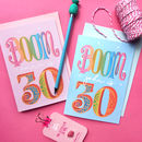 Personalised 'Boom You're 30' 30th Birthday Card