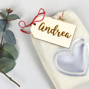 Wedding Favour Bags With Personalised Tags - wedding favours