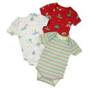 Rainbow Ark Baby Bodysuit Three Pack
