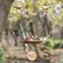 Personalised Golden Anniversary Garden Bird Dish