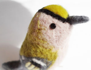 Needle Felted Collectible Gold Crest