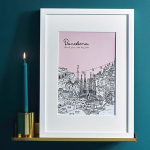 Personalised City Illustration Print - maps & locations