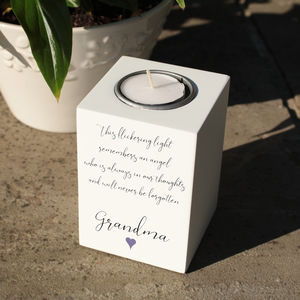 Personalised Memorial Tealight Holder - candles & home fragrance