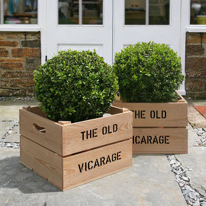 Personalised Housewarming Gift Crate - gardening