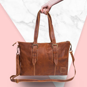 Personalised Leather Victoria Strapped Tote - women's accessories