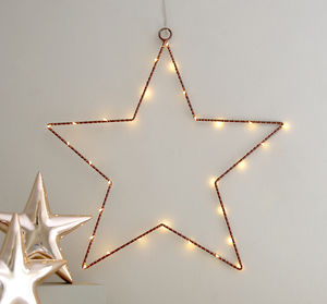 Copper Wire Star Light Decoration