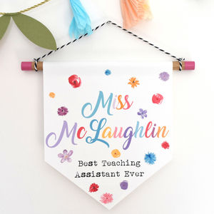 Best Teaching Assistant Ever Hanging Print Gift - home accessories
