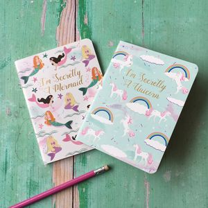 Unicorn And Mermaid Notebook Set