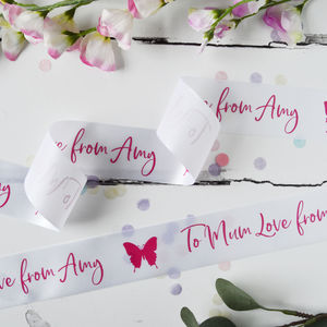 Mother's Day 48mm Personalised Printed Ribbon - gift wrap