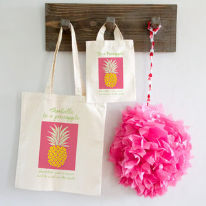 Pineapple Tote Shopper Bag X2 Sizes