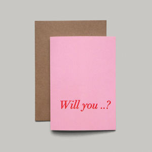 Will You Card