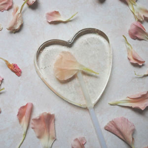 Individual Edible Flower Lollipops - edible favours