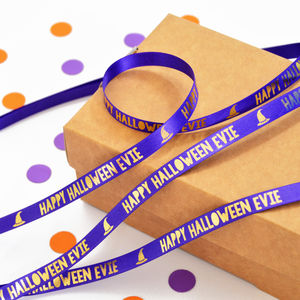 Halloween 10mm Personalised Printed Ribbon