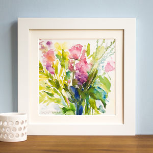 'Summer Bouquet' Mounted And Signed Print