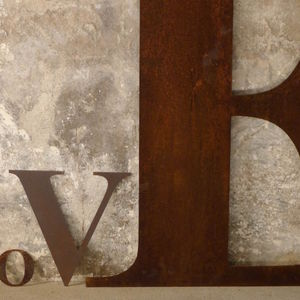 Rusty Metal Letters, Words Or Names - room decorations