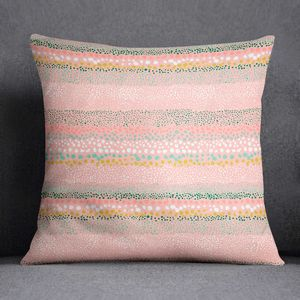 Watercolour Pink Cushion Textured Dots Ninola