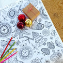 Colour In Mandala/Christmas Doodles Table Runner