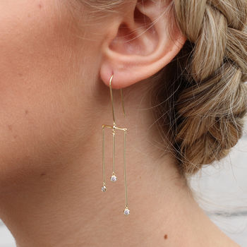 Sterling Silver Or 18ct Gold Modern Chandelier Earrings