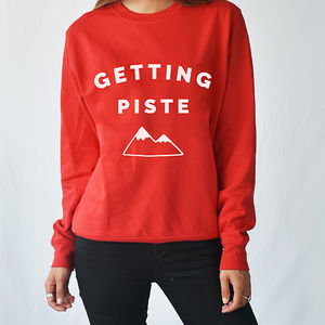 Getting Piste Ski Unisex Sweatshirt - women's fashion