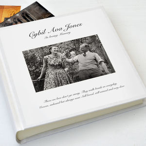 Condolence Guest Book - personalised
