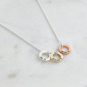 Circles Wish Necklace - necklaces & pendants