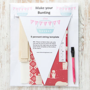 Scandi Polar Bear Make Your Own Bunting Kit - christmas sale
