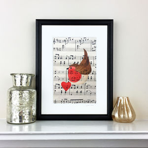 Romantic Robin On Music Original Painting - paintings