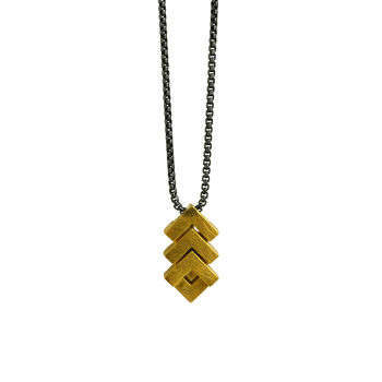 Mini Rhythm Pendant 18ct Gold Plate