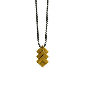 Mini Rhythm Pendant 18ct Gold Plate - necklaces & pendants