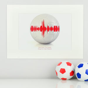 Personalised Football Song Soundwave Print