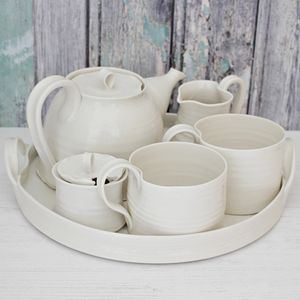 Hand Thrown Porcelain Mug Set