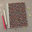 Personalised Hearts Engagement Plans Notebook