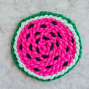 Watermelon Vegan Chunky Knit Rug