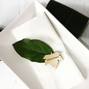 Autumn Fall Leaf Wedding Place Names - place cards